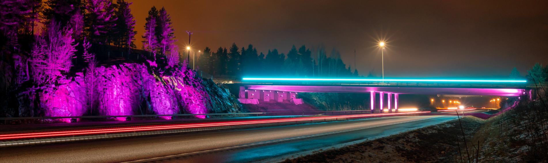 Cameo Lichtkunst Autobahn