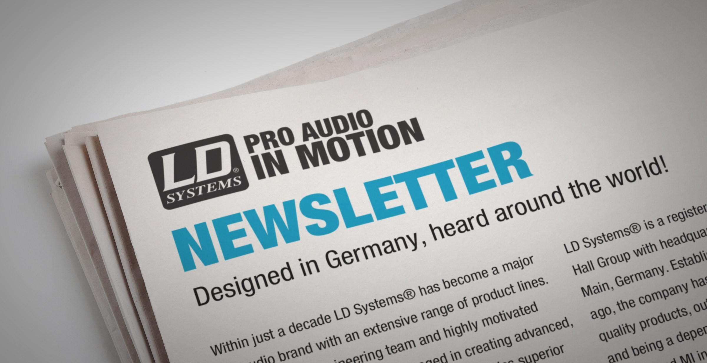 LD Systems Newsletter